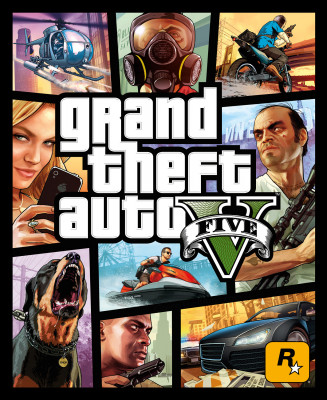 Official GTA V Box Art
