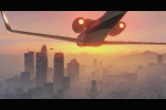 gta 5 trailer 1 airplane flying towards los santos