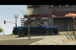 gta 5 trailer 1 blue car driving around 1