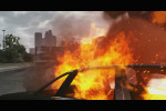 gta 5 trailer 1 car on fire and ambulance