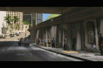 gta 5 trailer 1 people waiting along the road