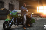 official screenshot franklin chilling with a motorcycle