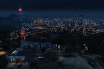 official screenshot overlooking the vinewood sign at night