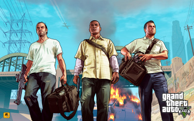 GTA Artwork 'Trevor, Franklin, Michael'
