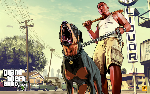 GTA 5 Franklin and Chop