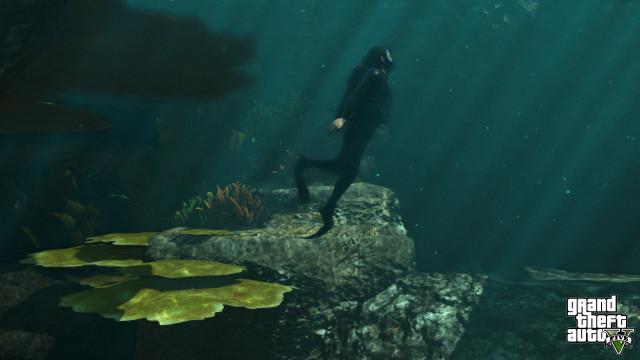 GTA 5 under water scuba diving reef