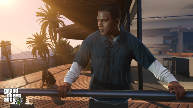 GTA 5 Franklin in Vinewood Hills
