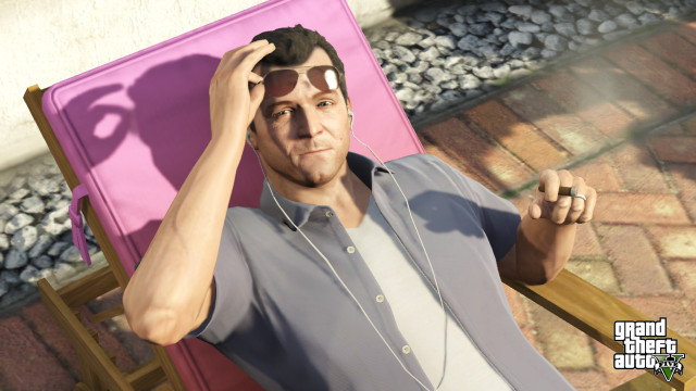 GTA 5 Michael relaxing