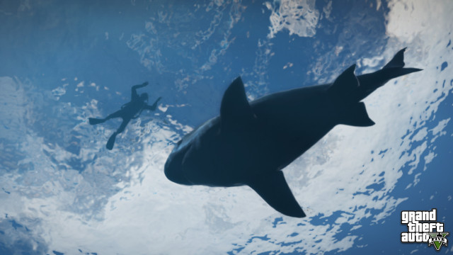 GTA 5 under water scuba diving reef