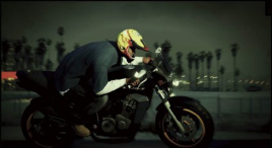 GTA 5 Franklin motorbike scan