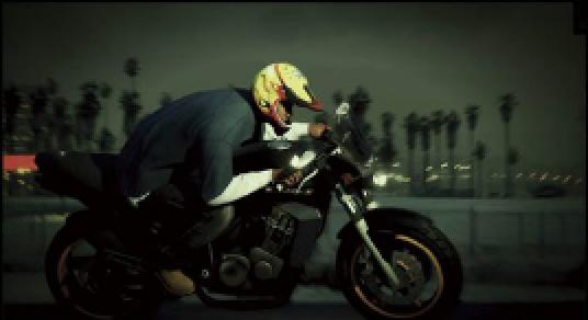 GTA 5 Franklin motorbike scan
