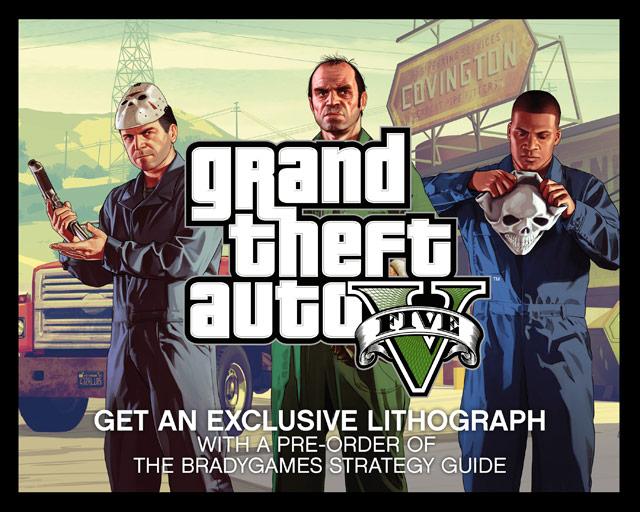 GTA 5 GameStop Lithograph
