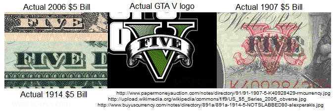 GTA V Dollar Bill Compare