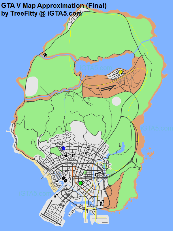 gta 5 blaine county map