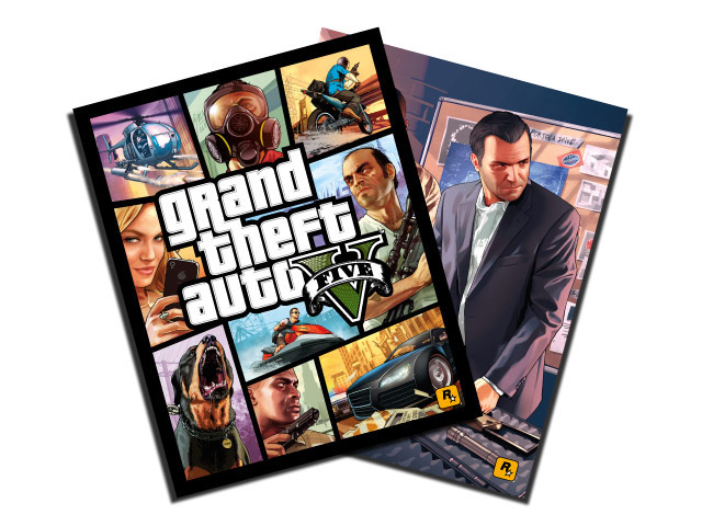 GTA 5 GameStop Poster