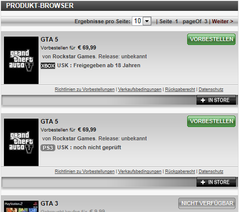 GTA 5 German Gamestop