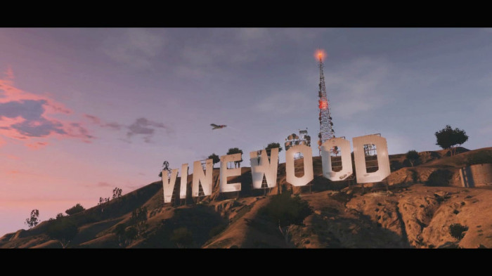 GTA 5 Vinewood Sign