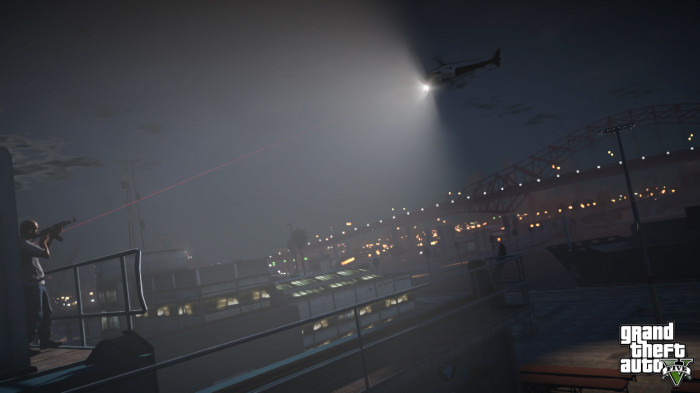 GTA 5 firing at police helicopter