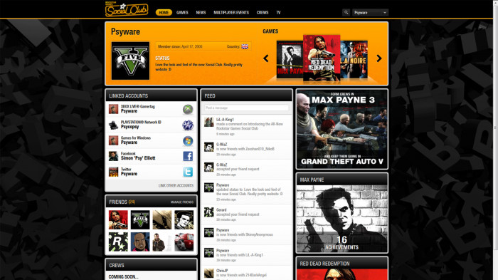 New Rockstar Games Social Club