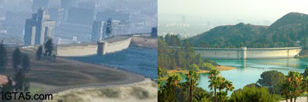 Mulholland Dam & Hollywood Reservoir