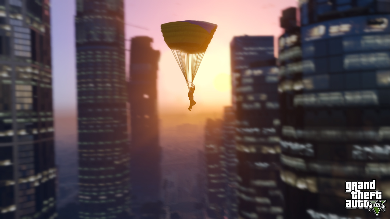 GTA V Screenshot Topic Official-screenshot-parachute-ride-through-downtown