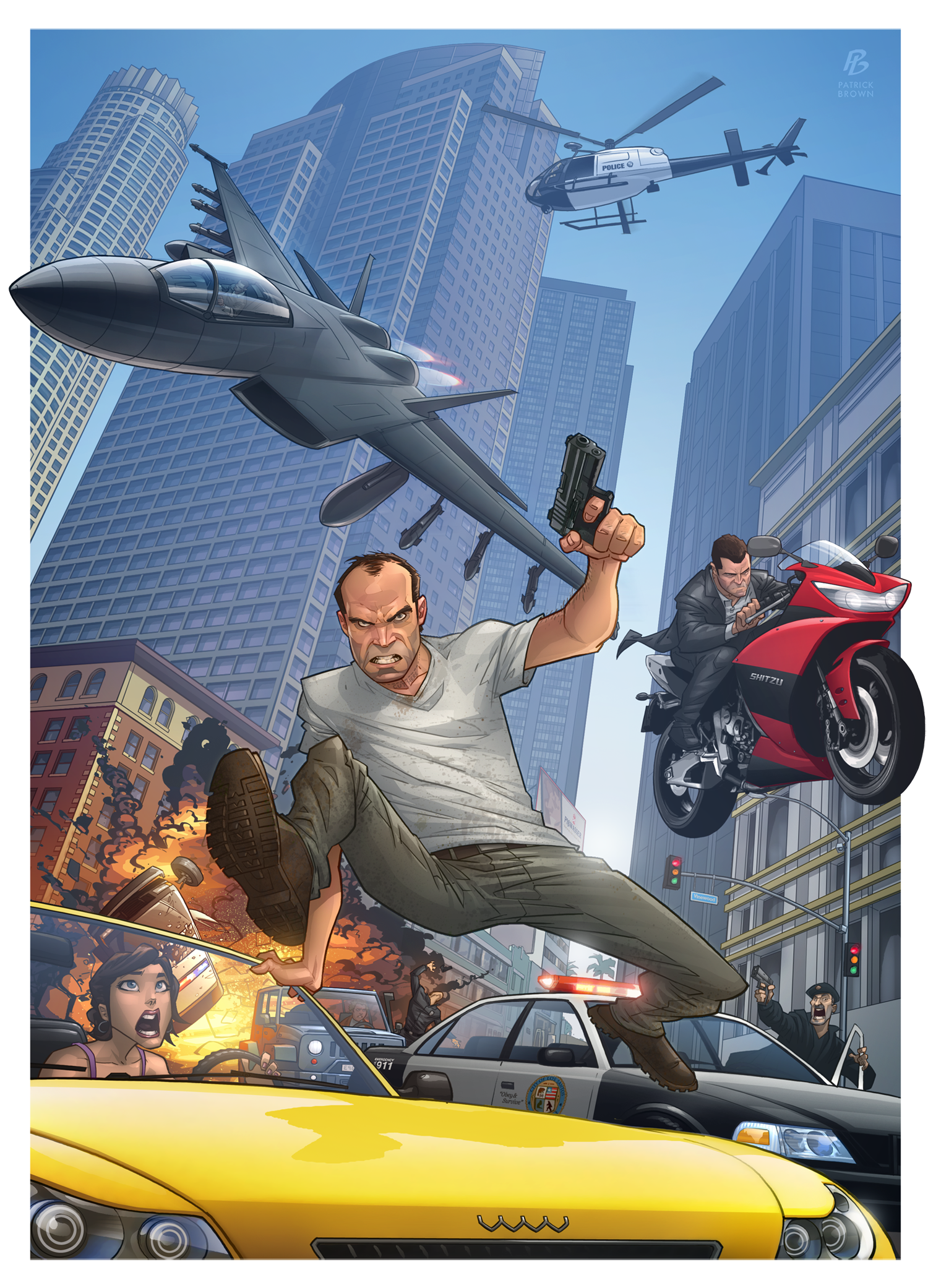 Patrick Brown first GTA 5 artwork
